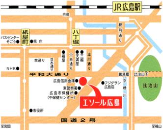 エソール広島 地図